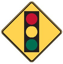 "Image logo for Warning Signs | W3-3 - 30"" x 30"" x 0.080 Aluminum Sign:TRAFFIC LIGHT (Symbol)"