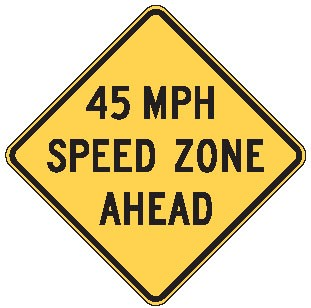 "Image logo for Speed Signs | W3-5a - 36"" x 36"" x 0.080 Aluminum Sign: SPEED ZONE AHEAD (Various Speeds)"