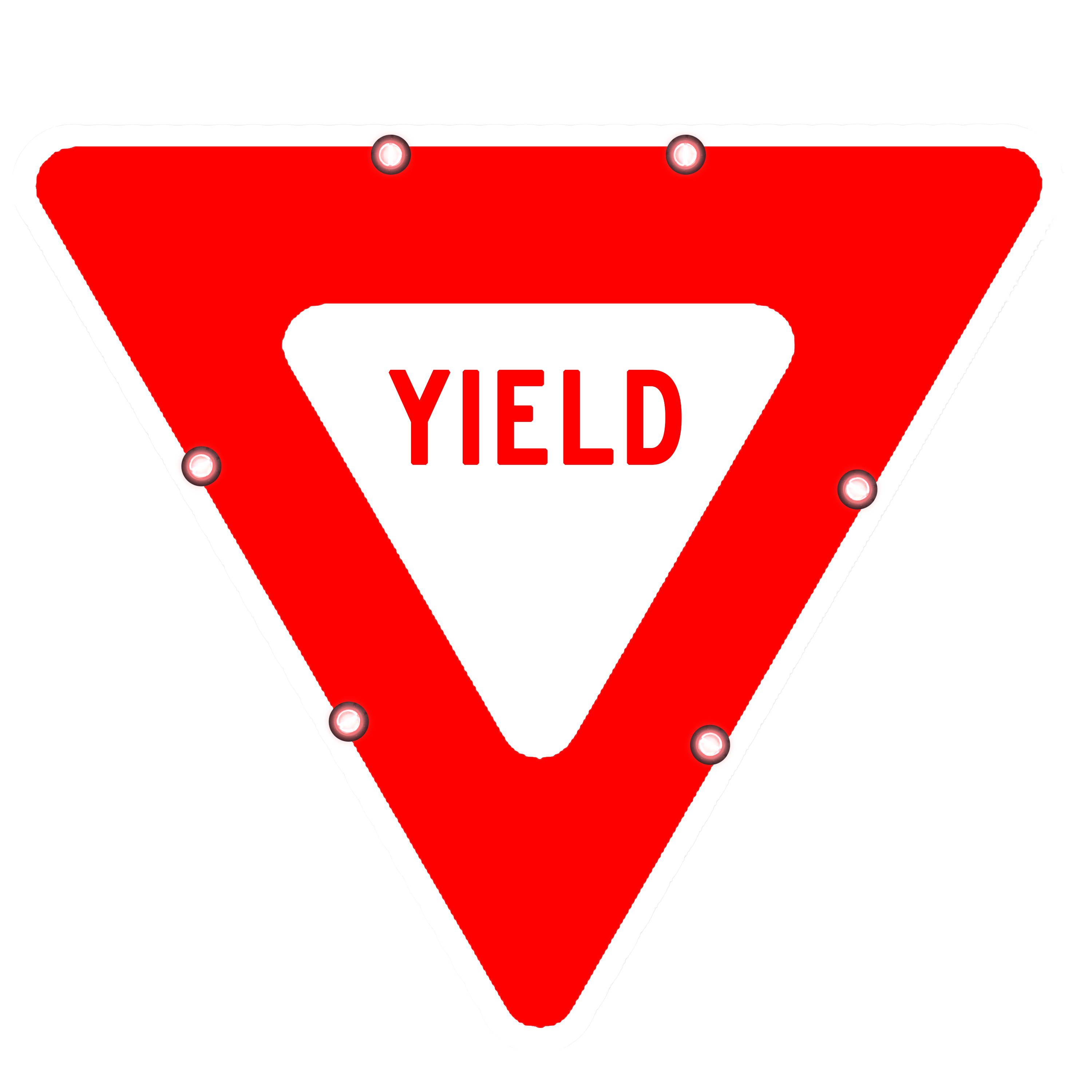 Image logo for Lighted Roadway Signs - YIELD Sign