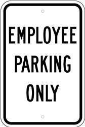 "Image logo for 12"" x 18"" x 0.080 Aluminum Sign: EMPLOYEE PARKING ONLY"