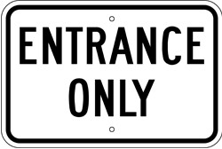 """Image logo for 18"""" x 12"""" x 0.080 Aluminum Sign: ENTRANCE ONLY"""