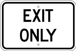 """Image logo for Aluminum Sign: 18"""" x 12"""" x 0.080 Aluminum Sign: EXIT ONLY"""