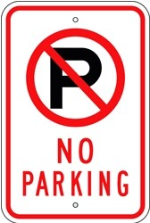 "Image logo for 12"" x 18"" x 0.080 Aluminum Sign: NO PARKING (with Symbol)"