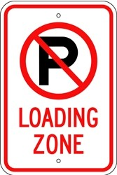 "Image logo for 12"" x 18"" x 0.080 Aluminum Sign: NO PARKING - LOADING ZONE (with Symbol)"