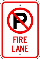 "Image logo for 12"" x 18"" x 0.080 Aluminum Sign: NO PARKING - FIRE LANE (with Symbol)"