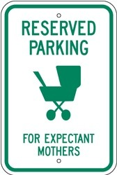 """Image logo for 12"""" x 18"""" x 0.080 Aluminum Sign: RESERVED PARKING FOR EXPECTANT MOTHERS"""