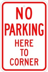 "Image logo for 12"" x 18"" x 0.080 Aluminum Sign: NO PARKING HERE TO CORNER"