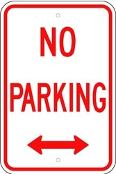 "Image logo for 12"" x 18"" x 0.080 Aluminum Sign: NO PARKING (with or without Arrows)"