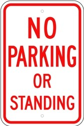 "Image logo for 12"" x 18"" x 0.080 Aluminum Sign: NO PARKING OR STANDING"