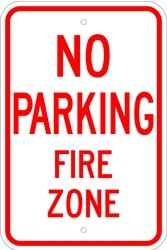 """Image logo for 12"""" x 18"""" x 0.080 Aluminum Sign: NO PARKING - FIRE ZONE"""