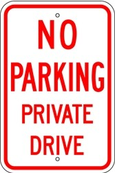 "Image logo for 12"" x 18"" x 0.080 Aluminum Sign: NO PARKING PRIVATE DRIVE"