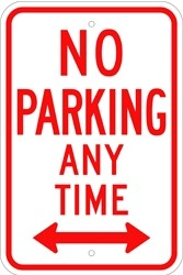 "Image logo for 12"" x 18"" x 0.080 Aluminum Sign: NO PARKING ANY TIME (with or without Arrows)"