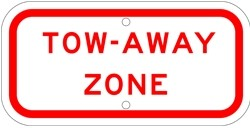 "Image logo for 12"" x 6"" x 0.080 Aluminum Sign: TOW-AWAY ZONE PLAQUE"