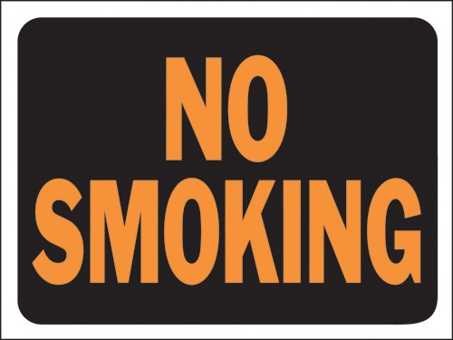 "Image logo for 12"" x 9"" Hy-Glo Plastic Sign:  NO SMOKING"