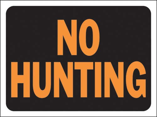 "Image logo for 12"" x 9"" Hy-Glo Plastic Sign:  NO HUNTING"