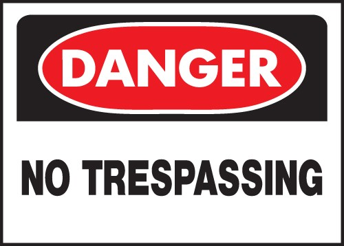 "Image logo for Signs Danger | 14"" x 10"" Heavy-Duty Polyethylene OSHA Sign:  DANGER - NO TRESPASSING"