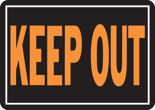 "Image logo for 14"" x 10"" LG - Hy-Glo Aluminum Sign:  KEEP OUT"
