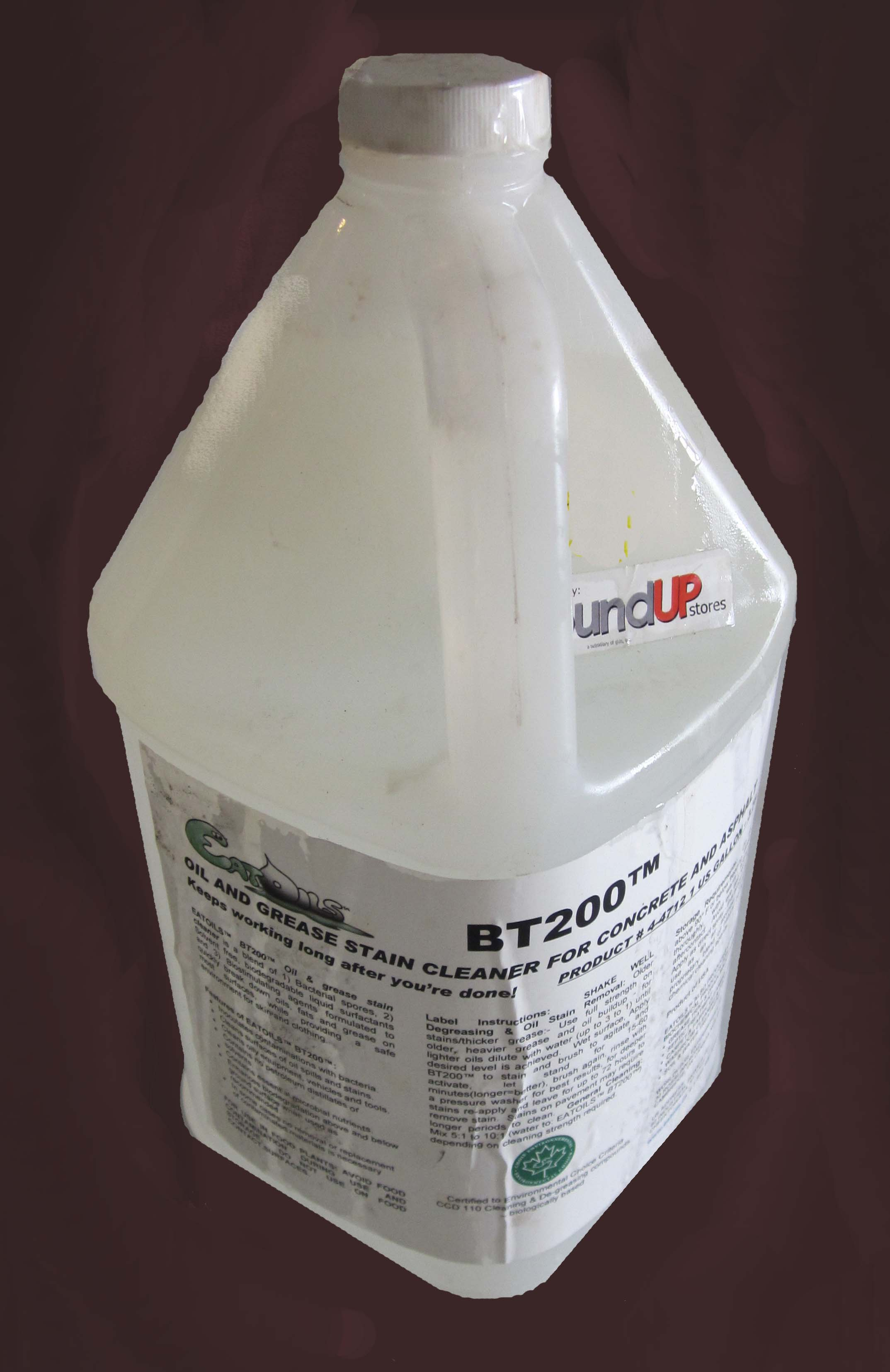 Image logo for BT200 Oil and Grease Stain Cleaner for Concrete and Asphalt - EatOILS  BT200