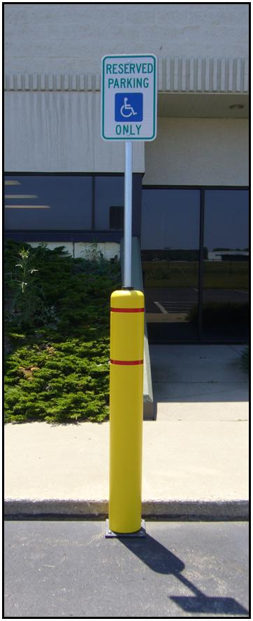 Image logo for Flexpost Flexible Sign Posts   Spring Base Sign Post System with Bollard Cover