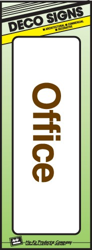 "Image logo for 9"" x 3"" DECO Sign:  OFFICE"