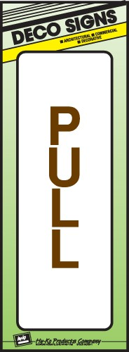 "Image logo for 3"" x 9"" DECO Sign: PULL"