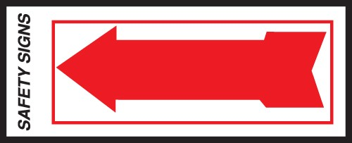 "Image logo for 10"" x 4"" Self-Adhesive Vinyl Safety Sign: ARROW"