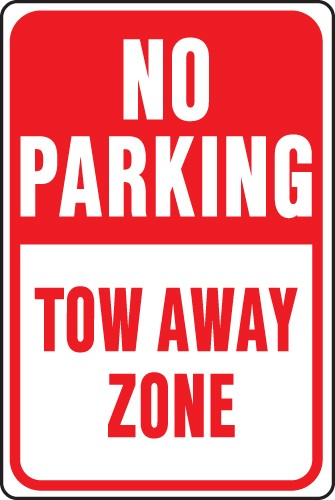 "Image logo for No Parking Signs | 12"" x 18"" x 0.040 Aluminum Sign: NO PARKING - TOW AWAY ZONE"