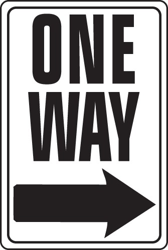 """Image logo for 12"""" x 18"""" x 0.040 Aluminum Sign: ONE WAY"""