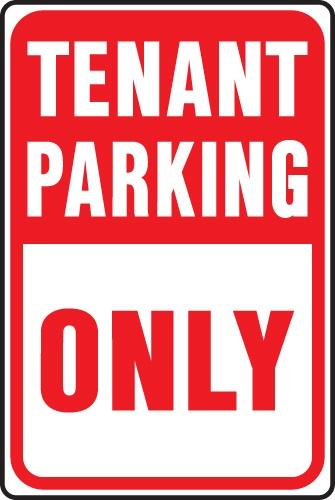 "Image logo for Tenant Parking Sign | 12"" x 18"" x 0.040 Aluminum Sign:  TENANT PARKING ONLY"