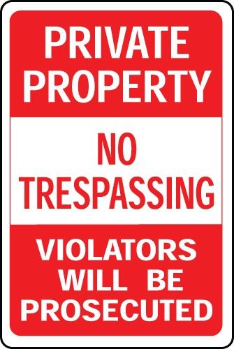"Image logo for Private Property Signs | 12"" x 18"" x 0.040 Aluminum Sign:  PRIVATE PROPERTY - NO TRESPASSING..."