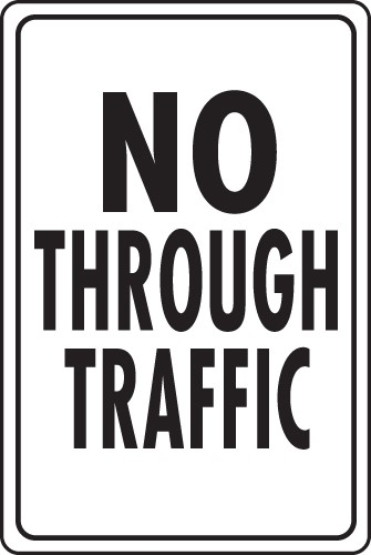 "Image logo for Traffic Signs | 12"" x 18"" x 0.040 Aluminum Sign:  NO THROUGH TRAFFIC"