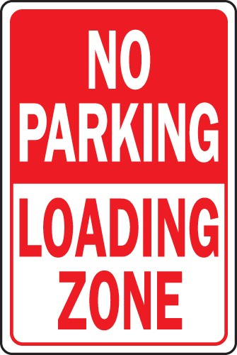 "Image logo for No Parking Signs | 12"" x 18"" x 0.040 Aluminum Sign:  NO PARKING - LOADING ZONE"