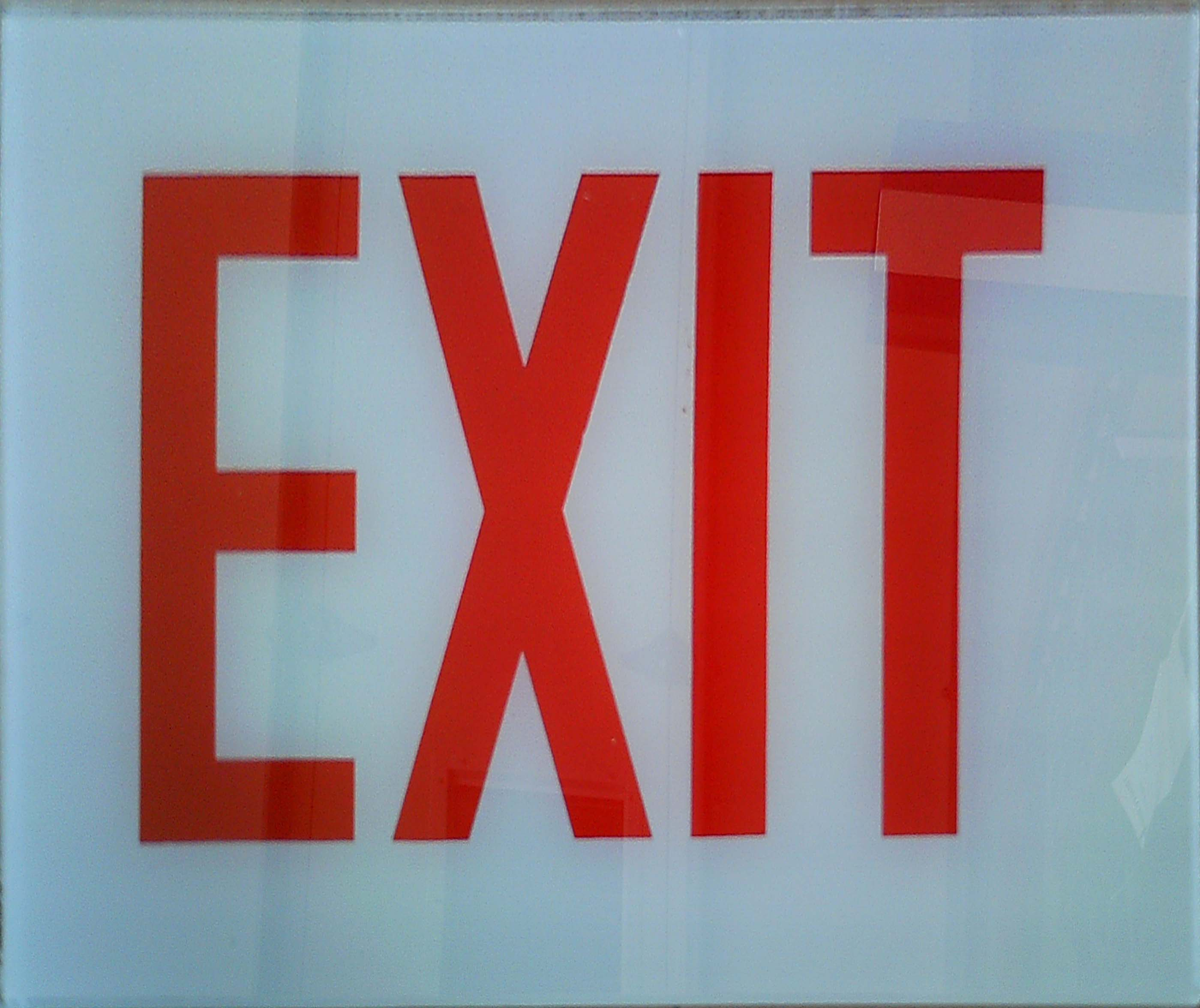 Image logo for Exit Sign - Glass Replacement Sign: EXIT (No Arrow)