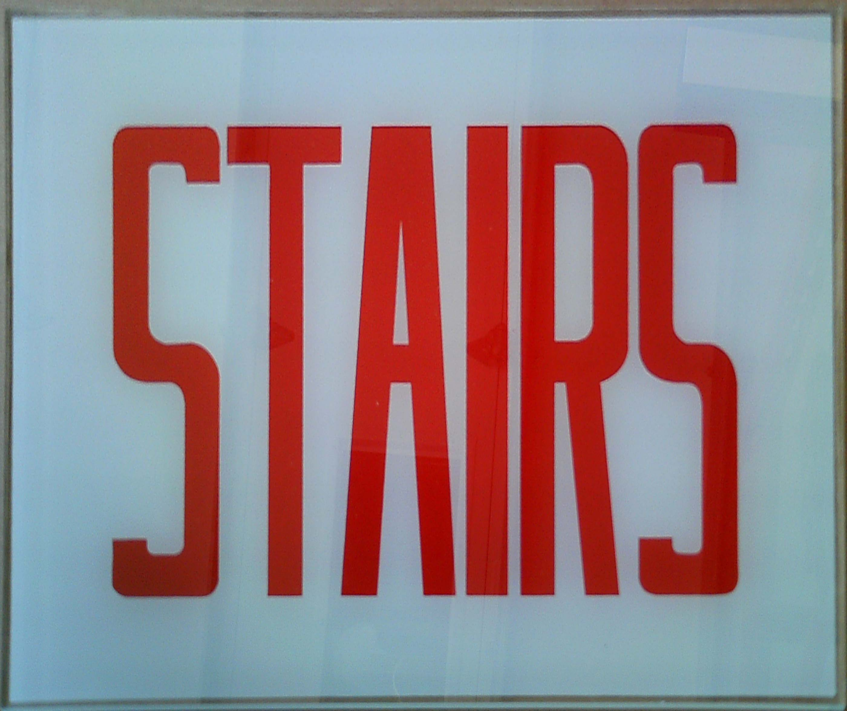 Image logo for Exit Sign - Glass Replacement Sign - STAIRS (NO Arrow)