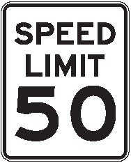 "Image logo for Speed Signs | R2-1 - 24"" x 30"" x 0.080 Aluminum Sign: SPEED LIMIT (Various Speeds)"