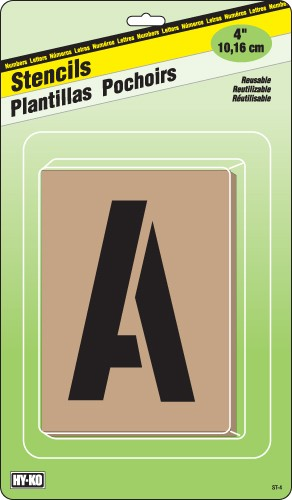 Image logo for Carded Number and Letter Stencils