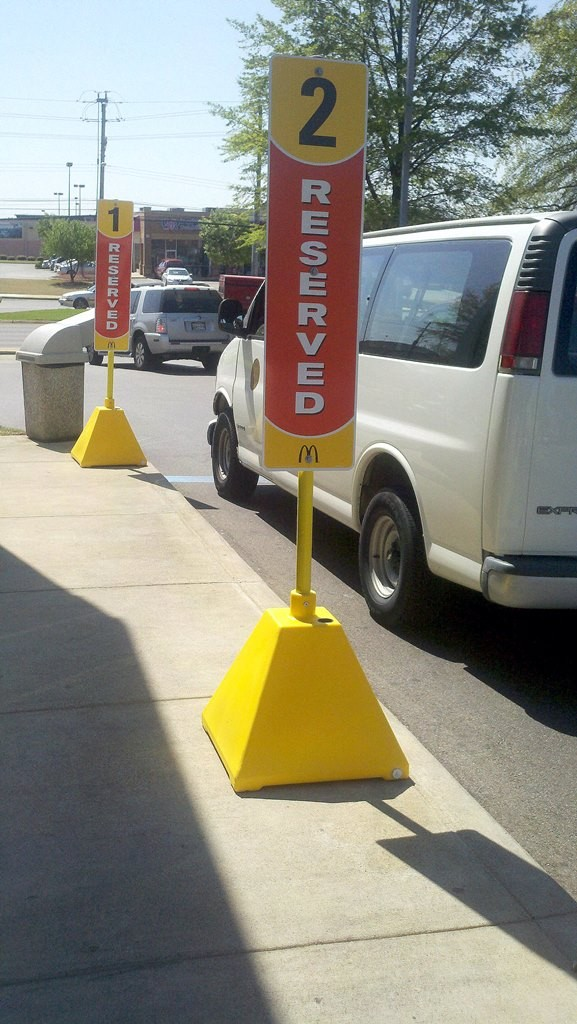 Image logo for Sign Bases | Polyethylene - Pyramid Base and Post System