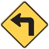 "Image logo for W1-1 - 30"" x 30"" x 0.080 Aluminum Sign: TURN AHEAD (Left or Right)"
