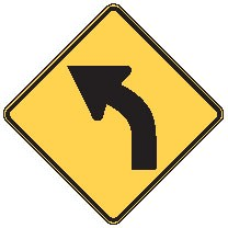 "Image logo for W1-2 - 30"" x 30"" x 0.080 Aluminum Sign: CURVE AHEAD (Left or Right)"
