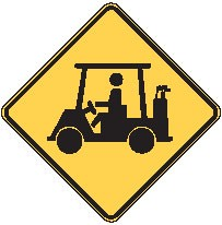 "Image logo for W11-11 - 24"" x 24"" x 0.080 Aluminum Sign: GOLF CART CROSSING (Symbol)"