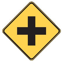 "Image logo for W2-1 - 24"" x 24"" x 0.080 Aluminum Sign: CROSS INTERSECTION (Symbol)"