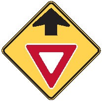 "Image logo for Warning Signs | W3-2 - 30"" x 30"" x 0.080 Aluminum Sign: YIELD AHEAD (Symbol)"