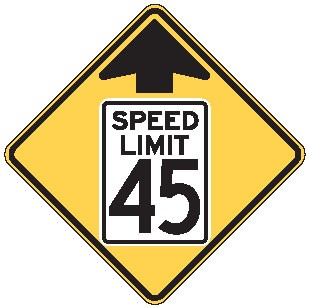"Image logo for Speed Signs | W3-5 - 36"" x 36"" x 0.080 Aluminum Sign: SPEED LIMIT CHANGE AHEAD (Various Speeds)"