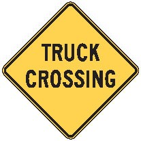 "Image logo for W8-6 - 24"" x 24"" x 0.080 Aluminum Sign: TRUCK CROSSING"