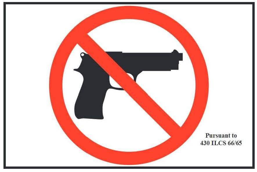 Image logo for Concealed Carry Sign - STATE OF ILLINOIS