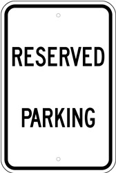 "Image logo for 12"" x 18"" x 0.080 ALUMINUM SIGN: RESERVED PARKING"