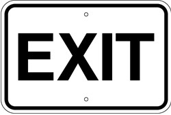 "Image logo for 18"" x 12"" x 0.080 Aluminum Sign: EXIT (with or without Arrows)"