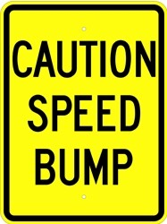 "Image logo for 18"" x 24"" x 0.080 Aluminum Sign: CAUTION - SPEED BUMP"