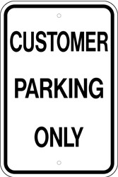 "Image logo for 12"" x 18"" x 0.080 Aluminum Sign: CUSTOMER PARKING ONLY"