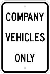 "Image logo for 12"" x 18"" x 0.080 Aluminum Sign: COMPANY VEHICLES ONLY"
